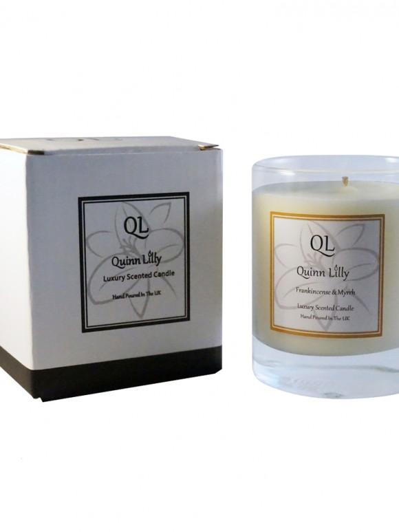 frankincense & myrrh soy candle