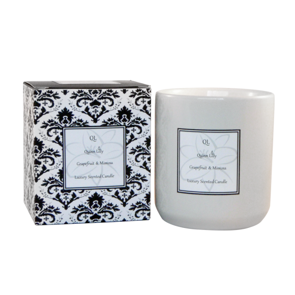 Grapefruit and Mimosa soy candle