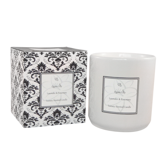 lavender and rosemery soy candle
