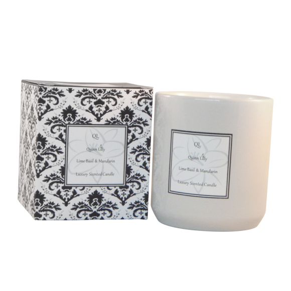 lime basil and madarin soy candle