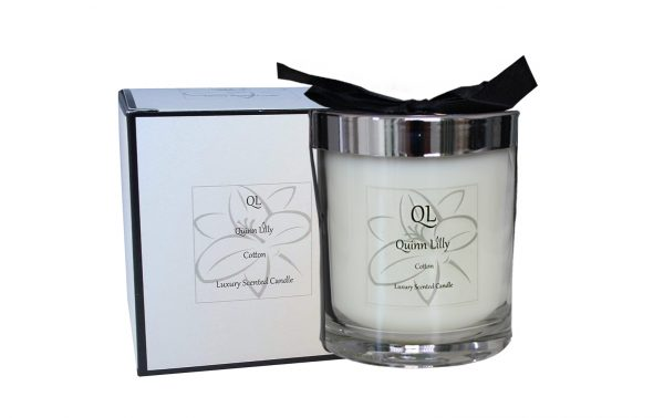 cotton scented candle